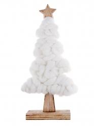 Sapin en laine blanc Noël 22 cm