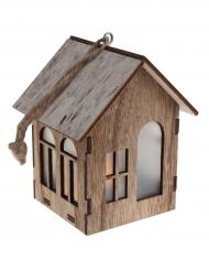 Suspension maison en bois 6.5 x 10.5 x 6.5 cm