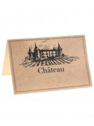 10 Marque-places en kraft viticole 9 x 6 cm