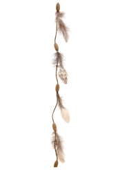 Guirlande plumes et bois 116 cm