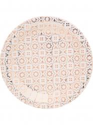 10 Assiettes en carton cuivré 23 cm