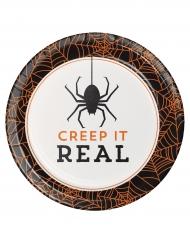 8 Assiettes en carton Halloween Creep it real 18 cm