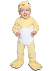 Déguisement petit poussin avec sucette luxe bébé