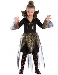 Déguisement vampire toile d'araignée dorée fille Halloween