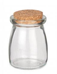 Petit pot en verre avec bouchon liège 8 cm