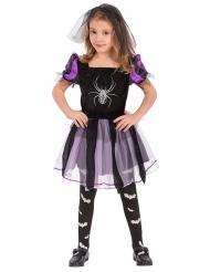 Déguisement sorcière avec araignée fille