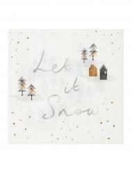 20 Serviettes en papier Jardin de Noël 33 x 33 cm