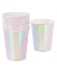 12 gobelets en carton iridescent 250 ml