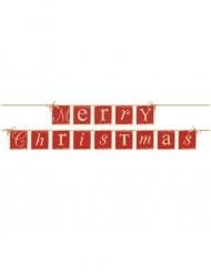 Guirlande bannière Merry Christmas rouge et or 143 cm