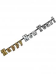 Guirlande bannière holographique Happy New Year 142 cm