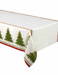 Nappe en plastique Arbre de Noël 137 x 213 cm