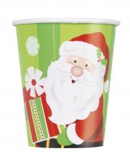 8 Gobelets en carton Petit Père Noël 270 ml