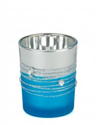 Photophore miroir turquoise 6,5 x 5 cm