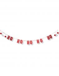Guirlande HO HO HO paillettes rouge Noël 3 m