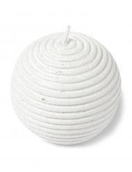 Bougie boule à paillettes blanches 7 cm