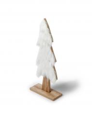 Sapin bois fourrure blanche 12,5 x 28 cm