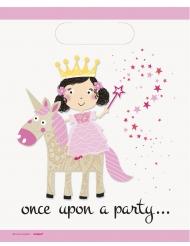 8 Sacs de fête princesse et licorne 18 x 22 cm