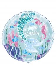 Ballon aluminium jolie sirène 45,7 cm