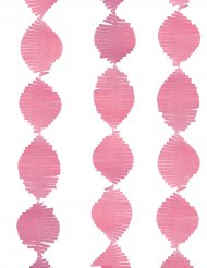 Guirlande à franges en papier rose 2,74 m