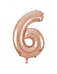 Ballon aluminium rose gold chiffre 6 86,3 cm