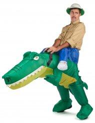 Déguisement crocodile gonflable adulte