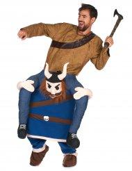 Déguisement homme à dos de viking adulte