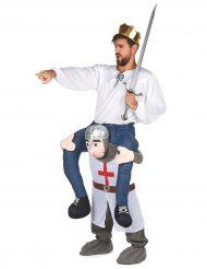 Déguisement homme à dos de chevalier adulte