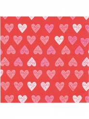 12 Serviettes en papier Love you 33 x 33 cm