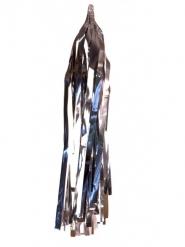 Kit 5 pompons tassels argentés 40 cm