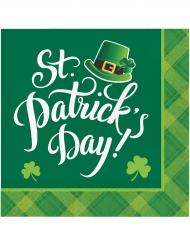 16 Serviettes en papier St Patrick's Day 33 x 33 cm