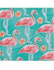 16 Petites serviettes en papier Flamant Rose 25 x 25 cm