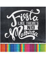 16 Petites serviettes en papier Fiesta 25 x 25 cm