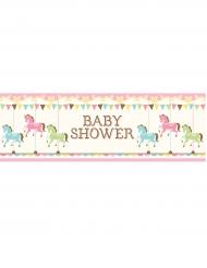 Bannière Carrousel baby shower 51 x 152 cm