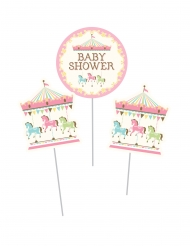 3 Piques Carrousel baby shower