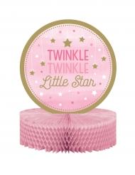 Centre de table Twinkle fille rose et doré One Little Star 23 x 30.5 cm