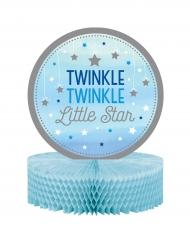 Centre de table Twinkle garçon bleu et argenté One Little Star 23 x 30.5 cm