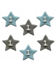 Décorations en sucre petites étoiles 1 an 2,5 cm