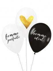 3 Ballons latex biodégradable Couple parfait 27 cm