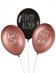 3 Ballons latex biodégradable Champagne 27 cm