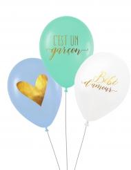 3 Ballons latex biodégradable C'est un garçon 27 cm