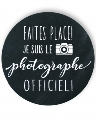 Badge épingle photographe officiel 56 mm