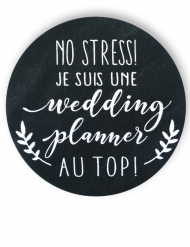 Badge épingle Wedding planner 56 mm