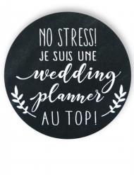 Badge épingle Wedding planner 56 mm