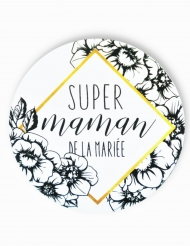 Badge épingle Maman de la mariée 56 mm