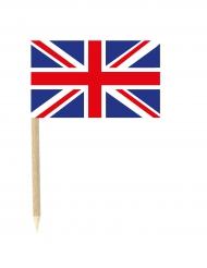 Lot de 50 drapeaux mini-piques Grande-Bretagne