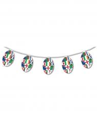Guirlande papier ignifugé Ballons Rugby Multinations 5 m