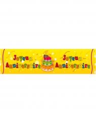 Banderole papier Joyeux Anniversaire Gâteau 16 cm x 2,44 m