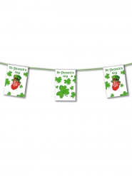 Guirlande papier Happy Saint-Patrick et Trèfles alternés 4,5 m