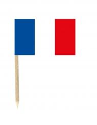 Lot de 50 drapeaux mini-piques France