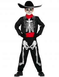 Déguisement squelette Dia de los muertos garçon